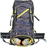TRAWOC 50 Ltr Travel Backpack for Outdoor Sport Camping Hiking Trekking Bag Rucksack, Army Blue