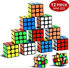 """Party Puzzle Spielzeug, 12 Pack Mini Würfel Set Party Favors Cuabe Puzzle,1.18 """"Puzzle Magic Cube umweltfreundliche Safe Material mit lebendigen Farbe, Party Puzzle Spiel für Jungen Mädchen Kinder"""