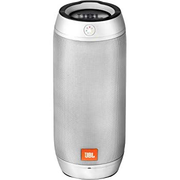 JBL Pulse 2 SplashProof Portable Bluetooth Speaker with Interactive Light Show - Silver