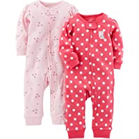Simple Joys by Carter's Baby Girl's 2-Pack Cotton Footless Sleep and Play