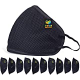 Toys Bhoomi 6-Layered Kids Mask and Comfortable Wear - 10 Pieces Reusable Masks Black