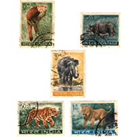 Mahaphilla ~ India 1963 ~ Wildlife Preservation Complete Set of 5 Stamps Use for School Level Project/ Collection