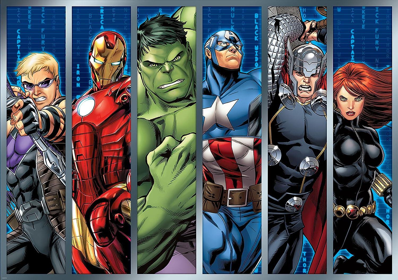 Marvel Avengers Assemble Strips Wallpaper Mural Amazoncouk DIY