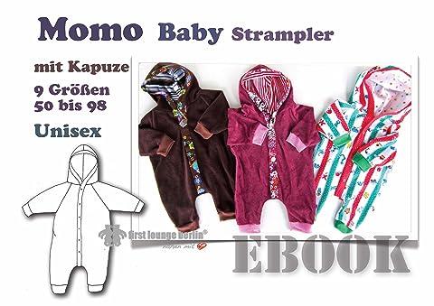 Momo Nähanleitung mit Schnittmuster für Baby Strampelanzug mit Kapuze in