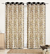 Curtains for Window 5 feet by La elite  Curtains 5 feet Set of 1 Pc (One Pc)   Brown Color Curtains  