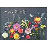 Biglietto di auguri per lei – Biglietto di auguri di compleanno – Bellissimo motivo floreale