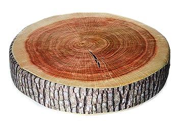 Amazonde Kissen Baumstamm Sitzkissen Zierkissen Dekokissen Holz Baum Stamm