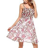 Zeagoo Damen Chiffon Kleid Strandkleid