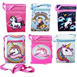 Birthday Popper Plush Unicorn Cross Body Sling Bag, Multicolour, set of 12