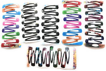 Multi color tic tac hair clips for women and girls (pair-32)