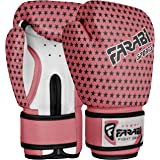 Gants de boxe pour enfants junior 4 oz Tapis rose Sac de boxe Mitt MMA Kick-Boxing Gloves formation