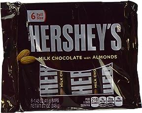 Hershey's Milk Chocolate Bars with Almonds (6 Pack Display, 246g)