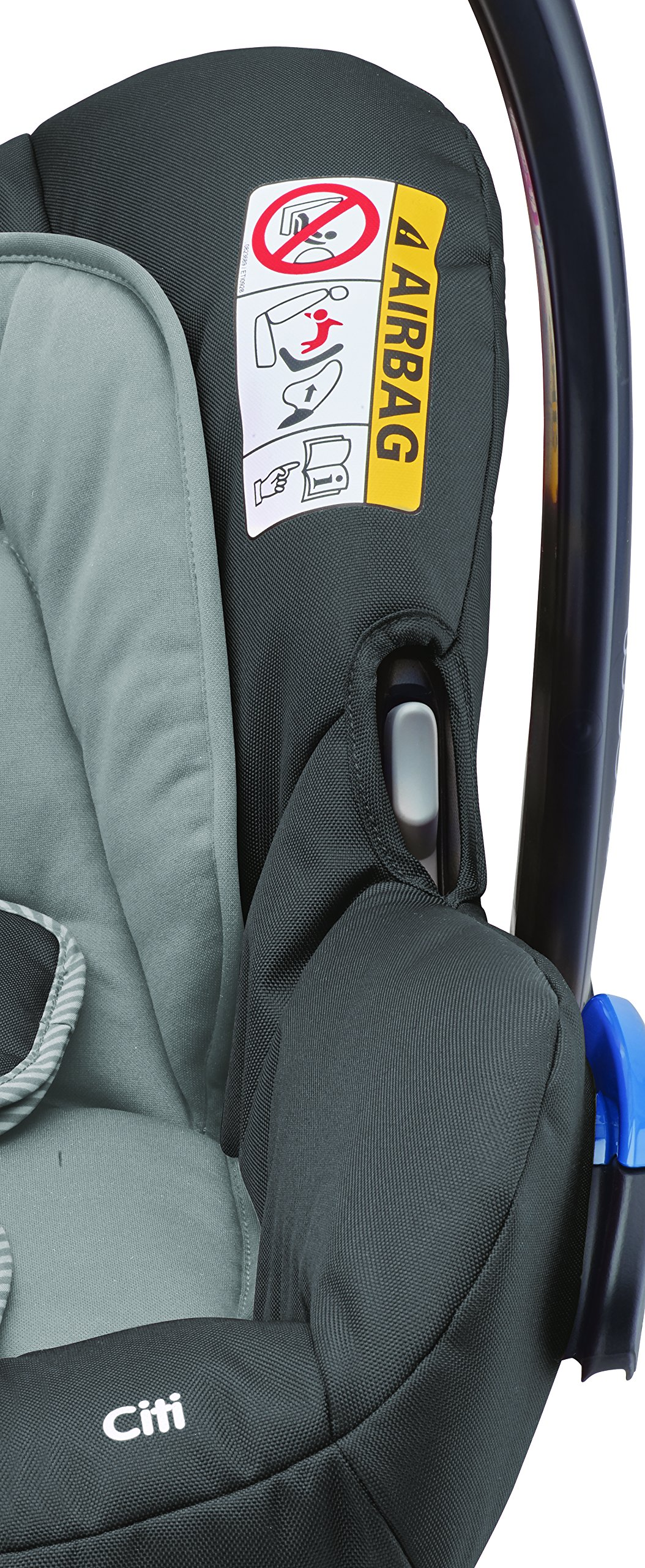 Maxi-Cosi Kinderautositz Citi Concrete Grey Maxi-Cosi Side protection system, guarantees optimal protection in the event of a side impact Lightweight, light weight and ergonomically shaped safety bar for use as carrying handle Practical travel system 8