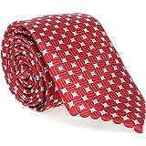 LANSILK Business Set Cravatta da Uomo - Cravatta sottile, gemelli e fazzoletto, confezione regalo, 100% seta