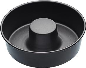 Master Class KitchenCraft KCMCHB76 Antihaft-Savarin Kuchenform/Ring-back form, Stahl, grau, 20 x 20 x 5.5 cm