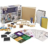 KreativeKraft Kit Album Photo Scrapbooking pour Adultes avec Scrap Book à Spirales Et Plus De 60 Accessoires et Autocollants,