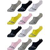 PiriModa Calcetines cortos de algodón para niña - Suaves y muy cómodos - Disponibles en tallas de la 21 a la 36 - Pack de 12