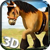 Wild Horse Simulator 3D-Run - Free Horse Endless Laufen, Springen und Planspiel