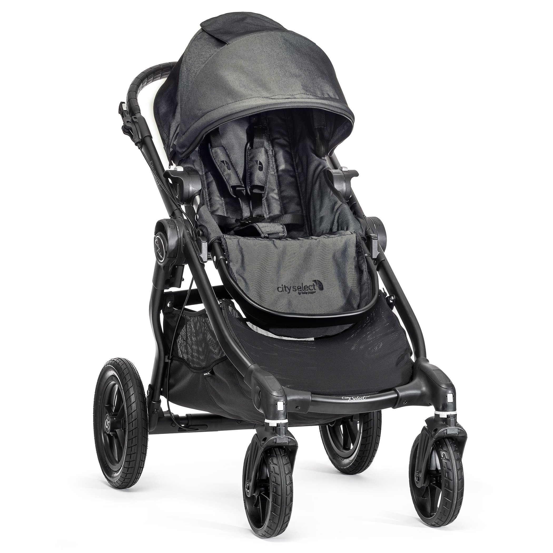 Baby Jogger BJ0142349601 City Select Passeggino, Telaio Black, Charcoal/Denim