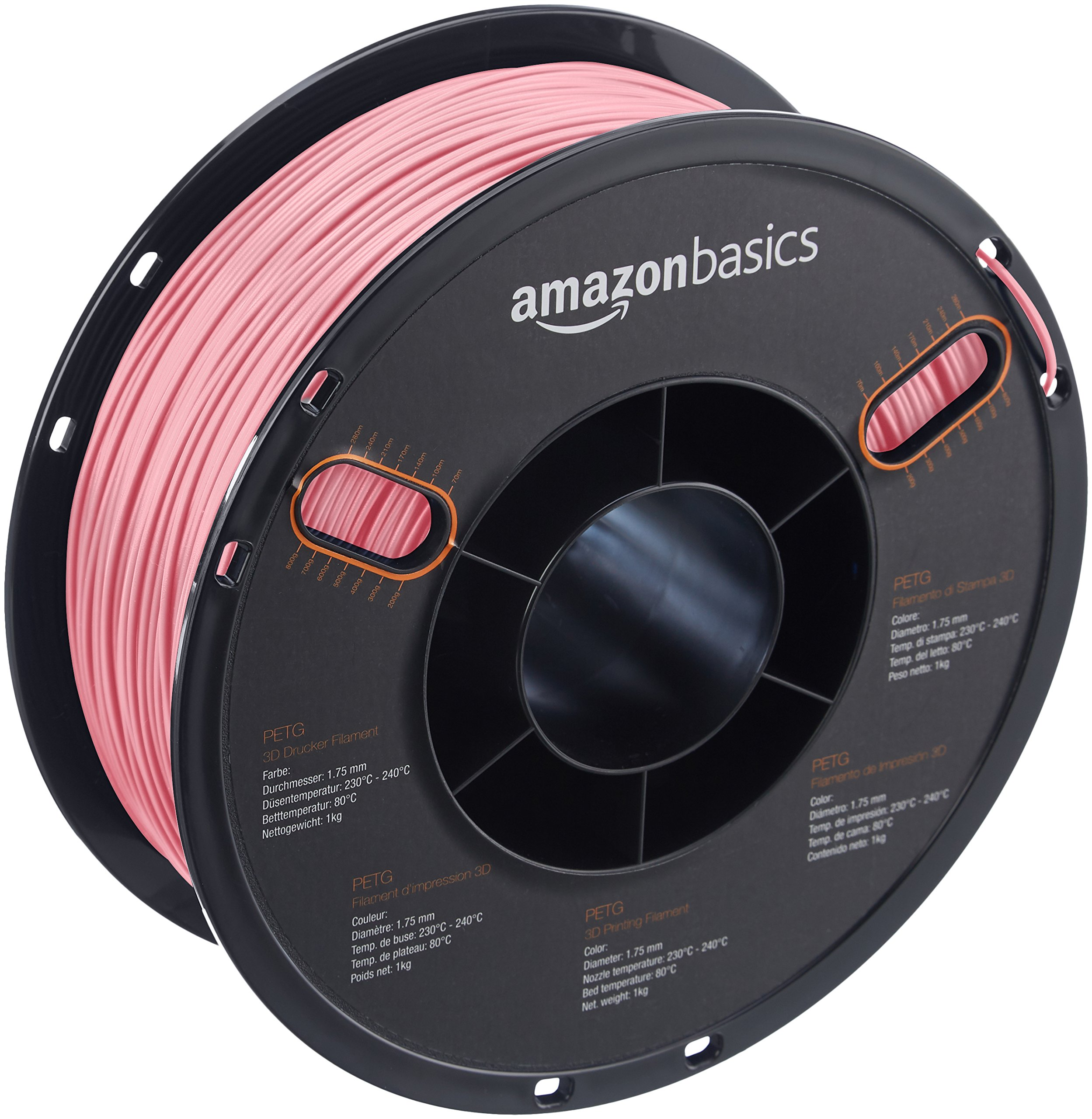 AmazonBasics PETG 3D Printer Filament, 1.75mm