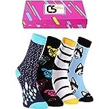 CREA SOCKS - Calcetines divertidos, calcetines de regalo para mujer, calcetines coloridos