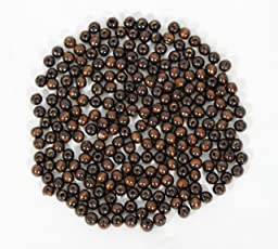 Daedal dream catchers Wooden Round Beads 8.5mm Diameter of 280-300 pieces Craft Supply (DDC111 , 50gm, Dark Brown)