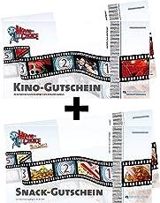 2x Kinogutscheine + 2x Snackgutscheine (Getränk + Popcorn/Nachos)! Für CineStar, Cinedom, Cineplex, Cinemaxx, UCI, Kinopolis, Kinostar uvm. von MovieChoice - INKL. ZUSCHLÄGE! INKL. LOGE! Einzulösen in fast allen Kinos in Deutschland und Österreich.