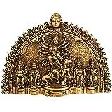 MohanJodero Elegant Brass Maa Durga Idol Wall Hanging murti
