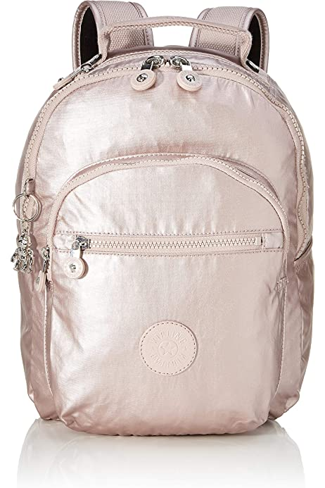 Kipling SEOUL S - Mochila escolar, 14 liters, Rosa (METALLIC ROSE): Amazon.es: Equipaje