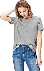 FIND Damen Oversized-T-Shirt mit Rundem Ausschnitt