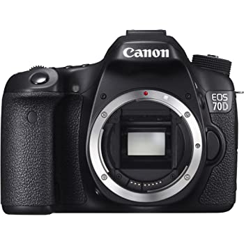 Canon EOS 70D SLR-Digitalkamera (20,2 Megapixel, 7,6 cm (3 Zoll) Display, Full HD, APS-C CMOS Sensor, WiFi, DIGIC 5+ Prozessor) nur Gehäuse schwarz