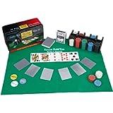 Relaxdays Set da Poker Completo, 200 Fiches, Tappetino, 54 Carte, Dealer, Bottoni Bui, con Cofanetto, Multicolore…
