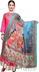 Mrinalika Fashion Cotton Silk Digital Print Dupatta (Multi-Coloured_Free Size)