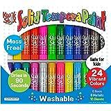 The Pencil Grip Tempera Paint 24-color Mess Set (Multicolour)