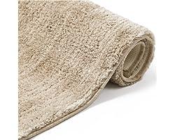 BEDSURE Bath Mat Non Slip - Water Absorbent Bathroom Mat Machine Washable Slip Resistant Latex Backing Bath Rug, Beige Bathro
