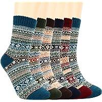 Bearbro Calze da donna,6 Paia Calze di Lana da donna donne calzini inverno caldo morbido annata per l'inverno per…