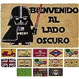 LucaHome - Felpudo Coco Entrada casa 40x60 con Base Antideslizante, Felpudo de Coco Divertido Lado Oscuro,Felpudo Absorbente,