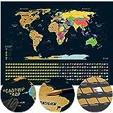 Mapa świata do zdrapywania I mapa świata I w języku niemieckim I 80 x 60 cm I mapa zdrapka I mapa świata do zdrapywania I map