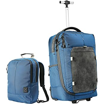 Cabin X ONE - Hybrid Hand Luggage Wheeled Trolley/Convertible Backpack and Day Bag. Flight Approved Cabin case (Nettuno Blue)