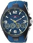 U.S. Polo Assn. Men's Quartz Watch, Analog-Digital Display and Rubber Strap US9598