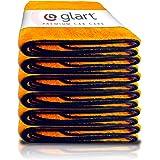 Glart 44WG6 Lot de 6 Chiffons de séchage en Microfibre Super absorbants pour Voiture Orange