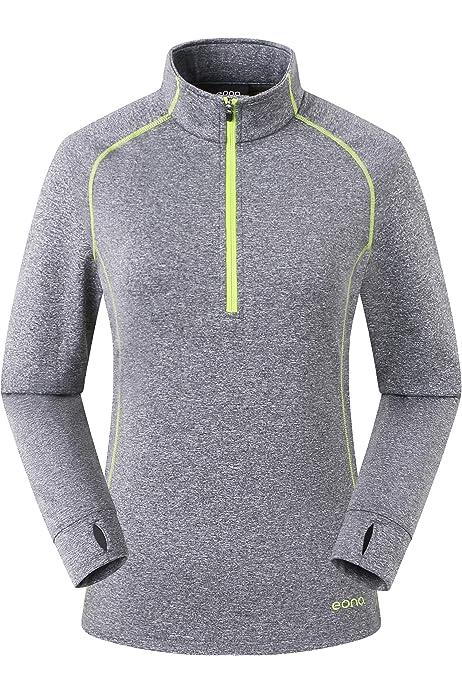 Eono Essentials - Forro polar elástico y ligero con tejido en forma de cuadrícula para mujer, XS (gris degradado): Amazon.es: Deportes y aire libre