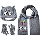 Tuc Tuc Gorro, Bufanda Y Guantes Polar Are You Ready Juego de accesorios de invierno para Niños