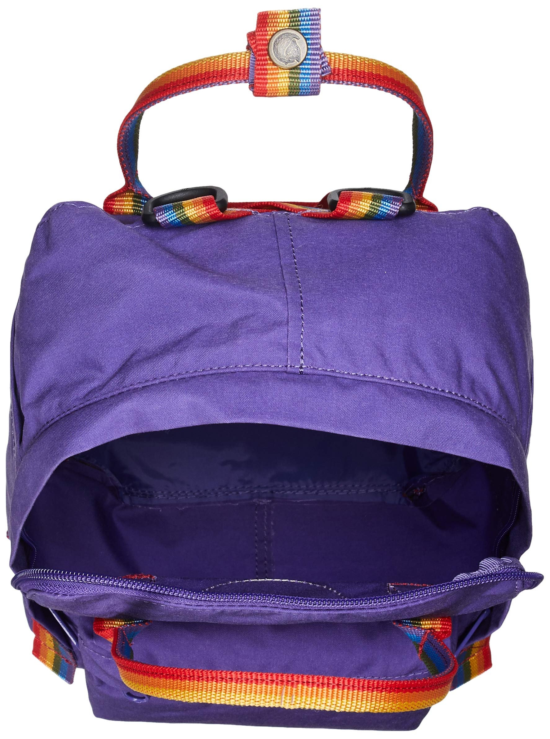 919sSSVHtvL - FJALLRAVEN Kånken Mini Mochila, Unisex Adulto, (Purple/Rainbow Pattern), Talla Única