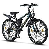 Licorne - Mountain bike per bambini, uomini e donne, con cambio Shimano a 21 marce
