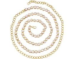 I Jewels Traditional Gold Plated Kundan Kamarband for Women (B020)