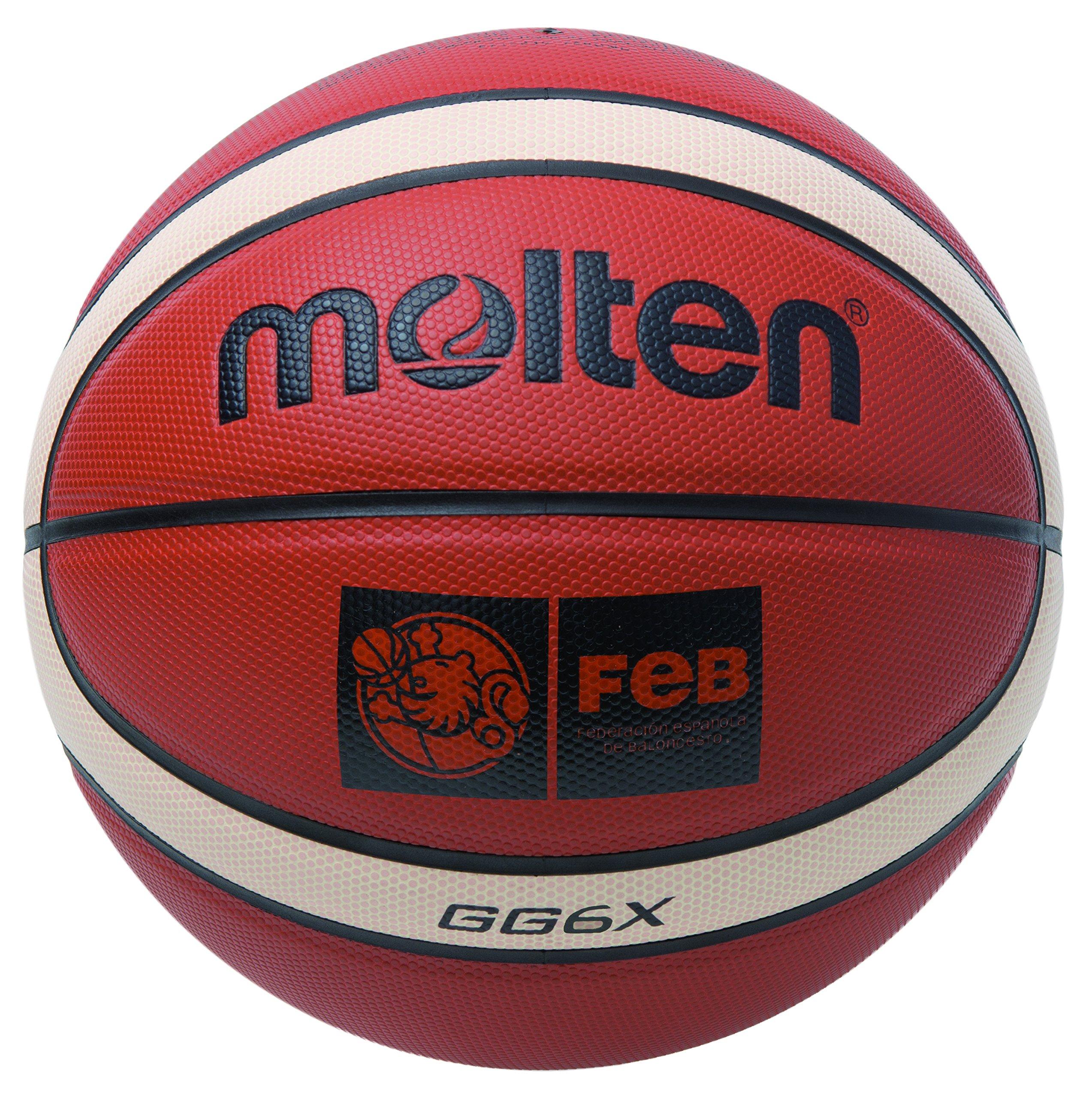 Molten BGG6X Balón de Baloncesto, Mujer, Marrón, 6