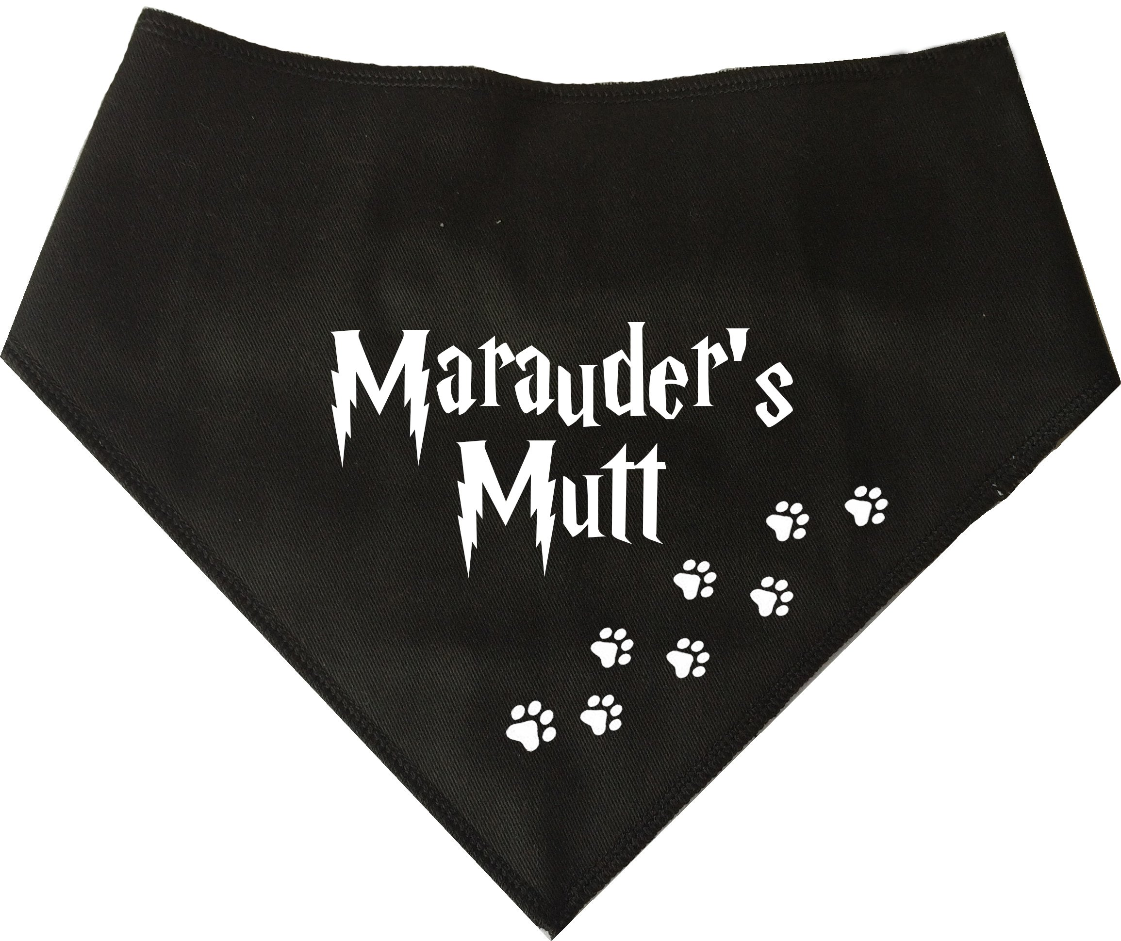 Spoilt Rotten Pets Dog Bandana (S2) -Harry Potter Marauders Mutt – For Dogs Four Adjustable From A Tiny Chihuahua to An Extra Large St Bernard (Small-Medium dog)
