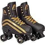 Apollo Disco Roller, Classic Roller, Rollschuhe für Kinder, Jugendliche und Erwachsene, größenverstellbare Quad-Skates, 3 Grö