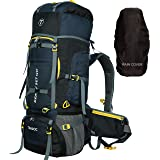 TRAWOC 80L Travel Backpack for Outdoor Sport Camp Hiking Trekking Bag Camping Rucksack HK007 (NAVYBLUE) 1 Year Warranty
